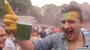 Holi Festival Berlin Green Beer