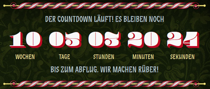 Kater Holzig Countdown