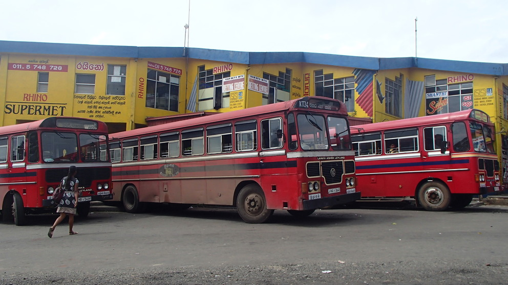 Bussen in Sri Lanka