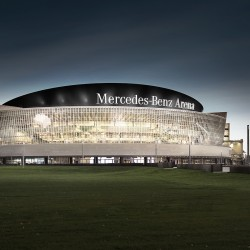 De Mercedes Benz Arena in Berlijn