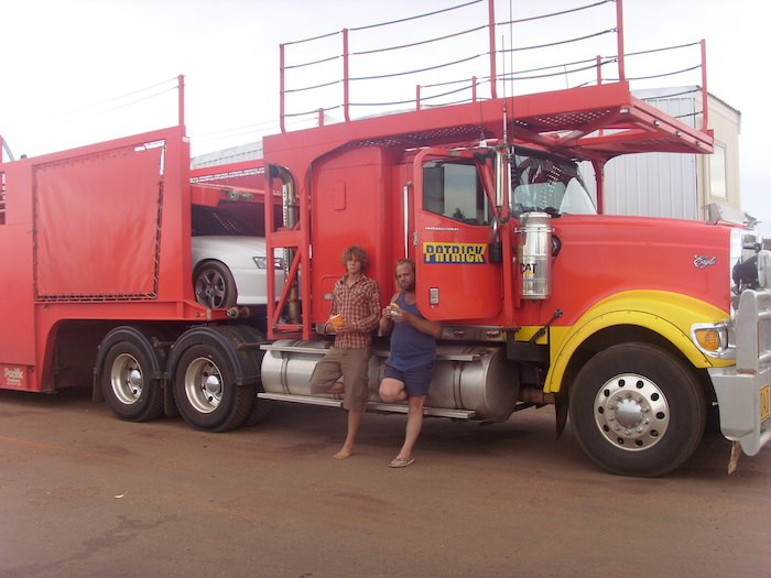 Liften als backpacker in Australie: Een echte roadtrain